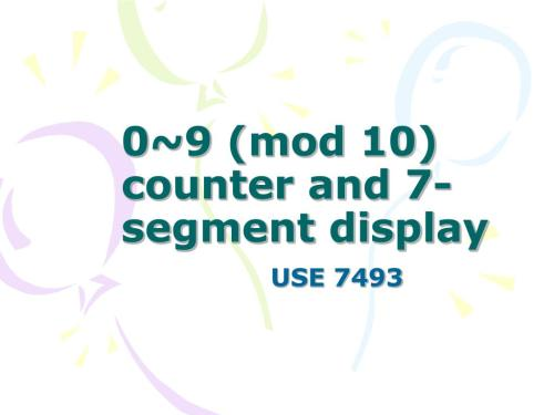 small resolution of 0 9 mod 10 counter and 7 segment display use 7493