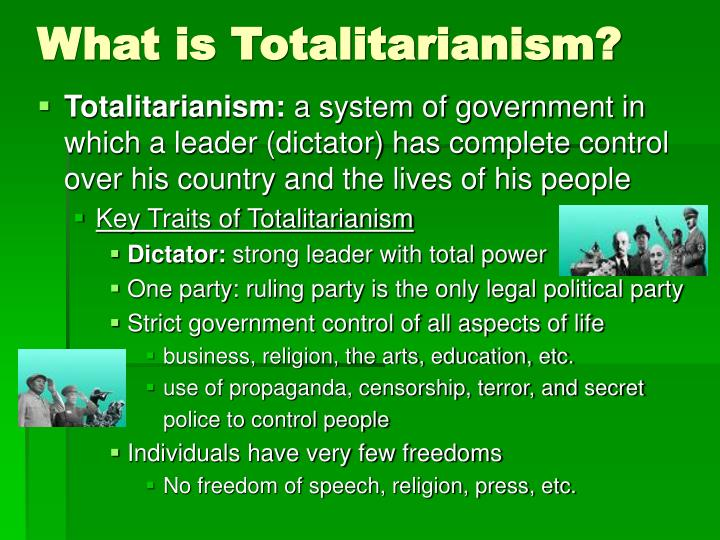 PPT - The Rise of Totalitarianism (1920s-1930s) PowerPoint Presentation - ID:1468454