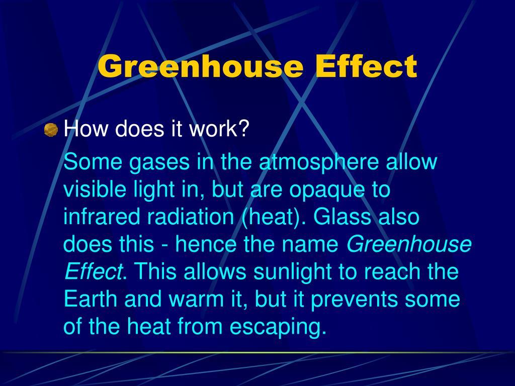 Greenhouse Effect Work