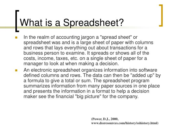 PPT - Excel Spreadsheets PowerPoint Presentation - ID:156198