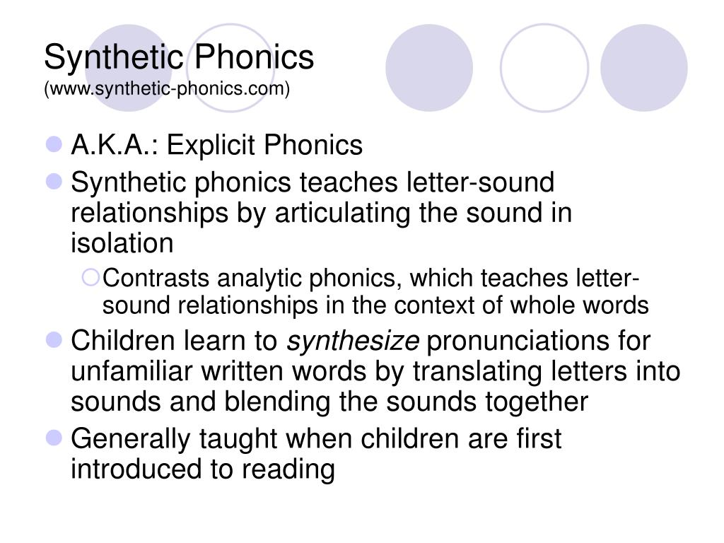 Teach Child How To Read Synthetic Phonics
