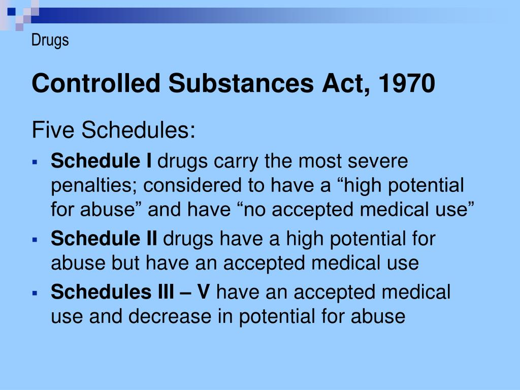 PPT - Controlled Substances PowerPoint Presentation - ID ...