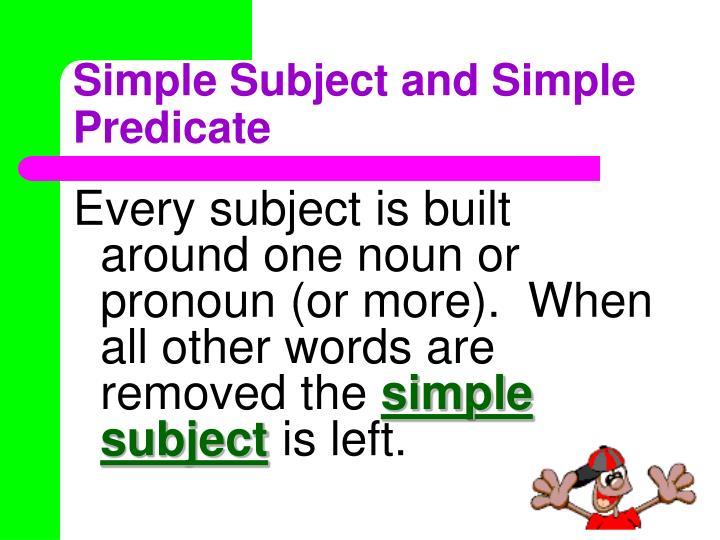 Ppt  Subjects & Predicates Powerpoint Presentation  Id