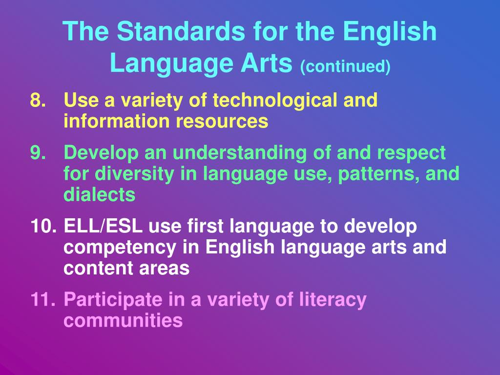 English Language Arts Standards Reading Informational Ppt