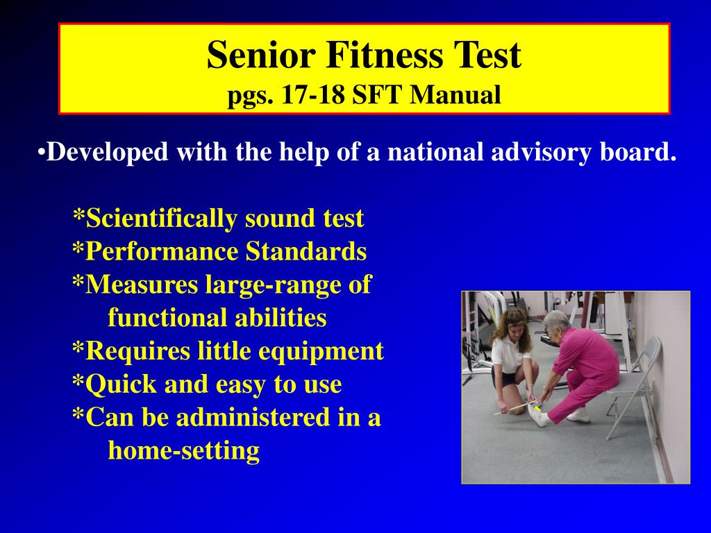chair stand test measure lazy boy recliner warranty ppt introduction to senior fitness powerpoint