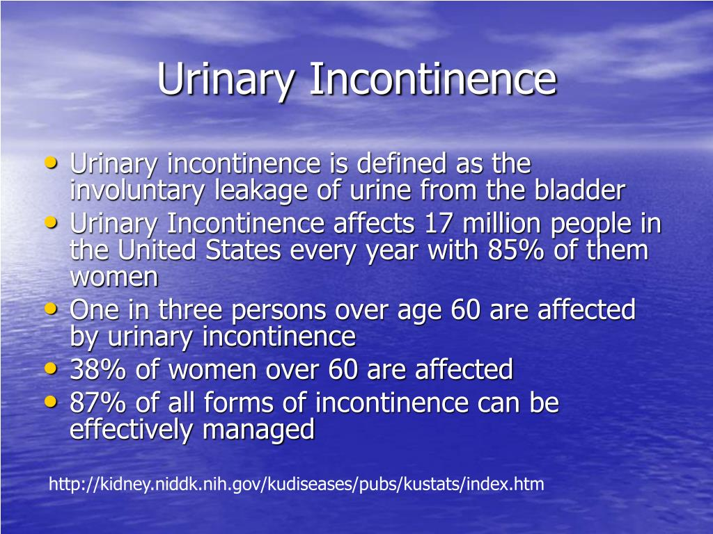 PPT - Urinary Incontinence PowerPoint Presentation. free download - ID:208323