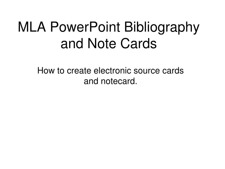 How To Write Notecards For A Research Paper In Mla Format Homework