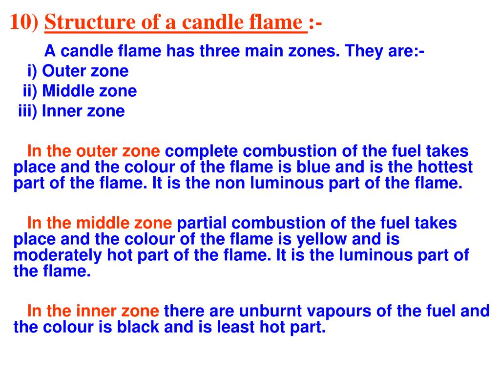 a diagram of non luminous flame onstar wiring for chevrolet ppt chapter 6 combustion and powerpoint