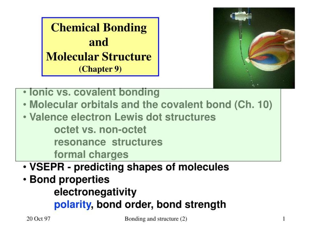 medium resolution of chemical bonding and molecular structure chapter 9