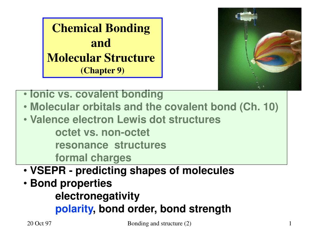 hight resolution of chemical bonding and molecular structure chapter 9