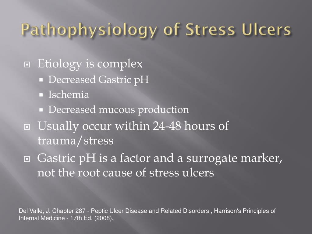 pathophysiology of peptic ulcer disease diagram 2005 wrx stereo wiring ppt stress prophylaxis sup  guidelines and
