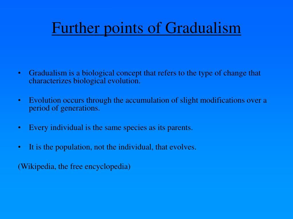 PPT - Punctuated Equilibrium Theory Versus Gradualism ...