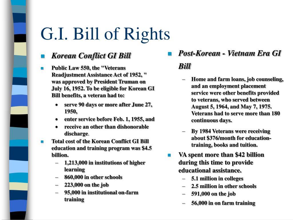 Vietnam Era Gi Bill Benefits