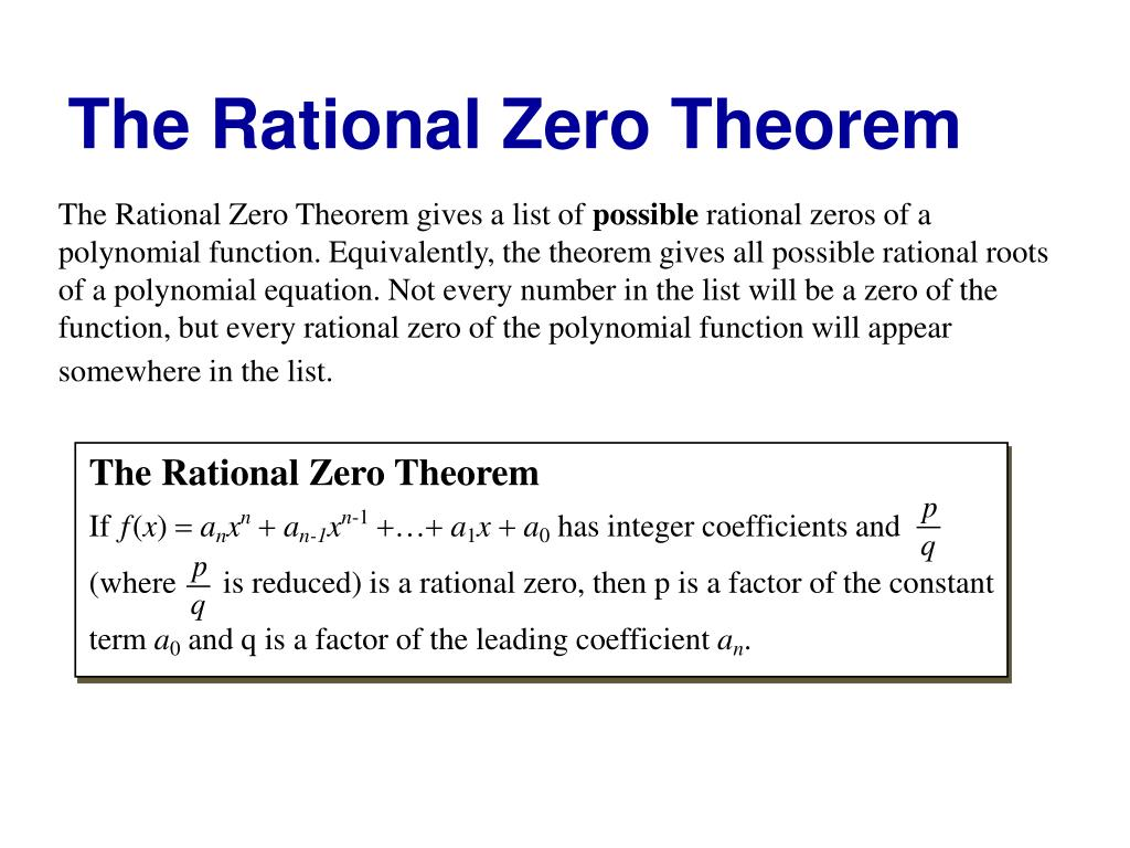 Solving Equations With Rational Coefficients Ppt