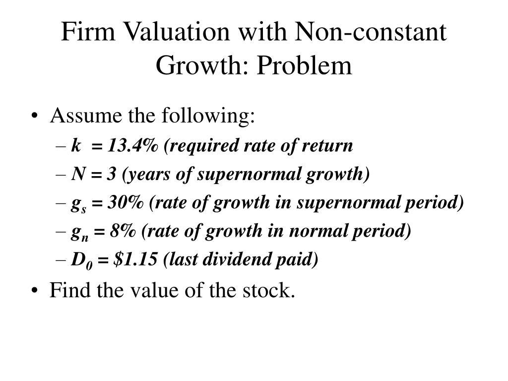 PPT - Stock Valuation PowerPoint Presentation - ID:309606