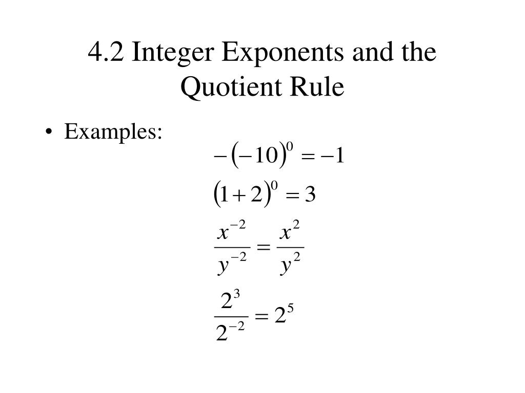 Quotient Rule For Exponents