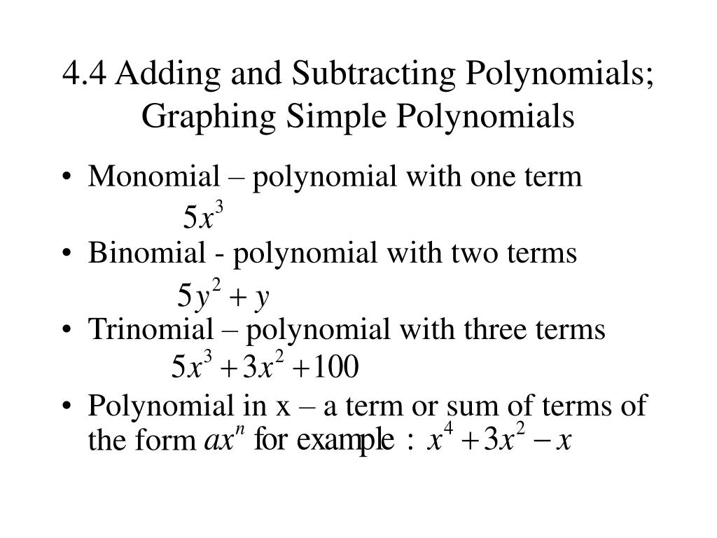 Adding And Subtracting Polynomials Calculator
