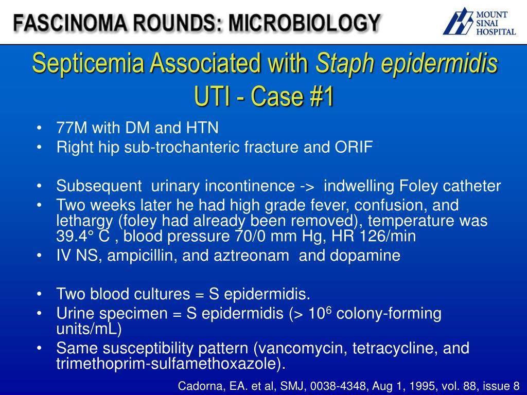 PPT - Fascinoma Rounds Coagulase negative staphylococcus ...