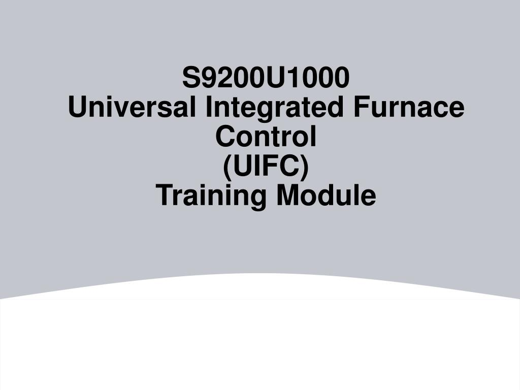 Integrated Furnace The S9200u1000 Universal Integrated Furnace Control
