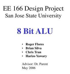 8 bit alu powerpoint ppt presentation [ 1024 x 768 Pixel ]
