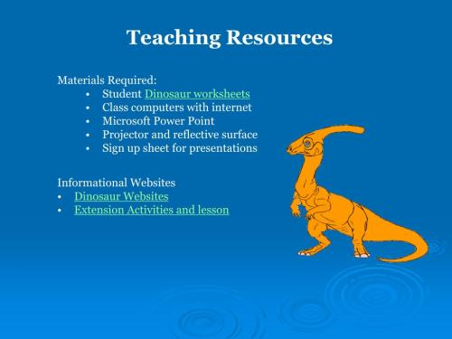 small resolution of PPT - Dinosaur Adoption A WebQuest for 5 th Grade Designed by Kelley  Meinholt Roger Williams University PowerPoint Presentation - ID:35056
