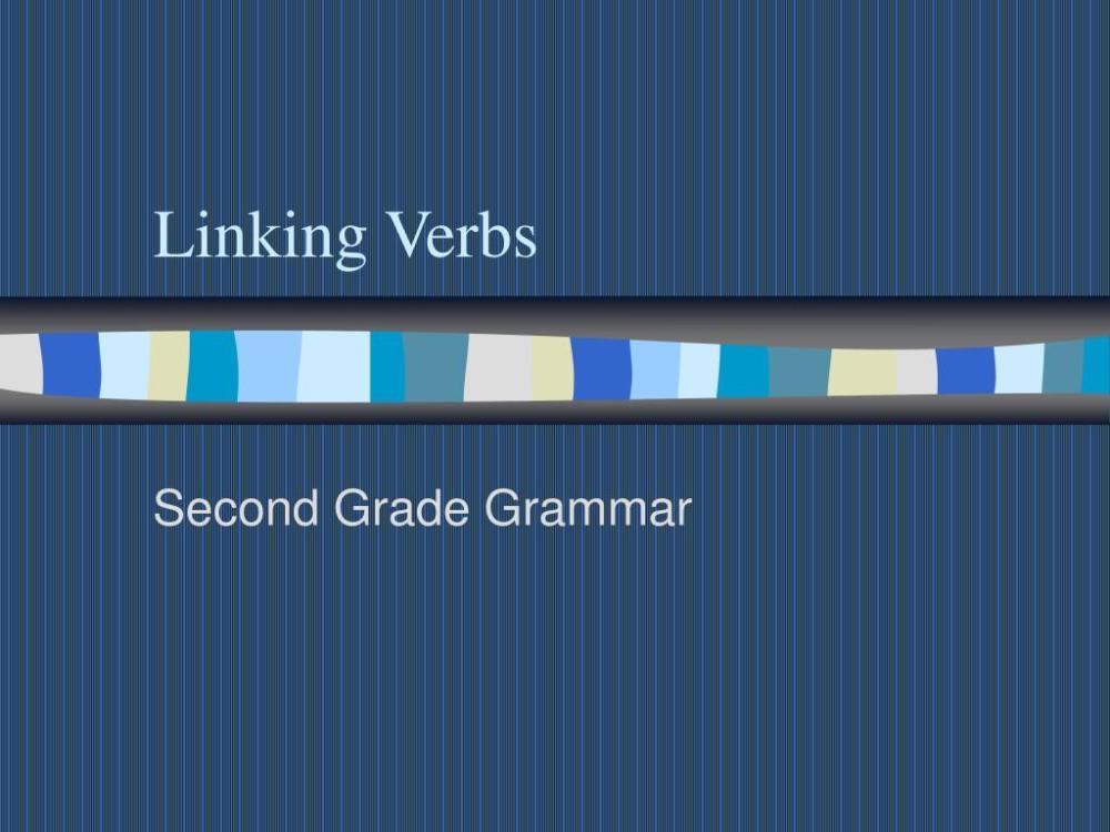 medium resolution of PPT - Linking Verbs PowerPoint Presentation