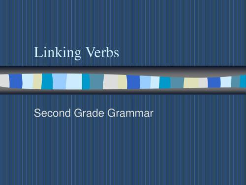 small resolution of PPT - Linking Verbs PowerPoint Presentation