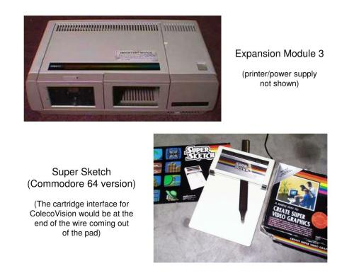 small resolution of  printer power supply not shown super sketch commodore 64 version the cartridge interface for colecovision would be at the end of the wire coming