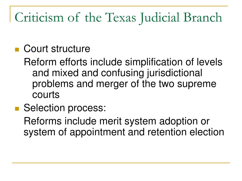 judicial branch court system diagram bosal towbar wiring ppt the texas judiciary powerpoint presentation id 404833