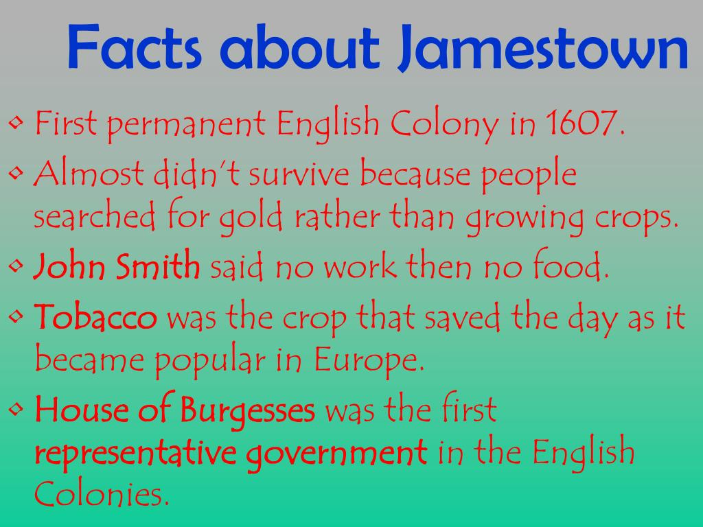 Jamestown Colony Powerpoint Lesson Jamestown Colony Virginia