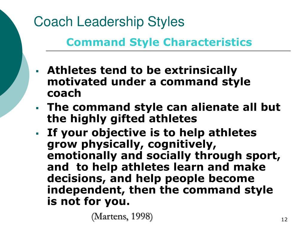 Ppt Coach Leadership Styles Powerpoint Presentation Id
