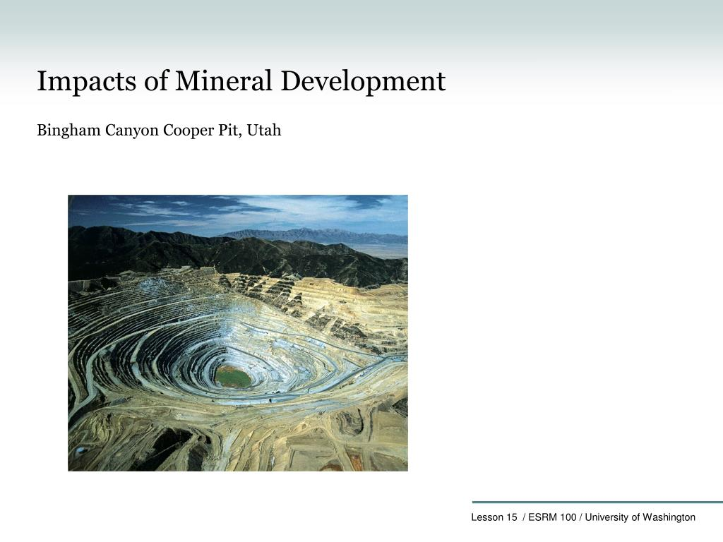 Ppt Chapter 15 Minerals And Environment Powerpoint