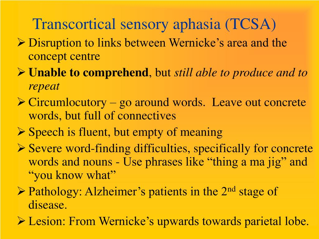 PPT - Aphasia PowerPoint Presentation - ID:421013