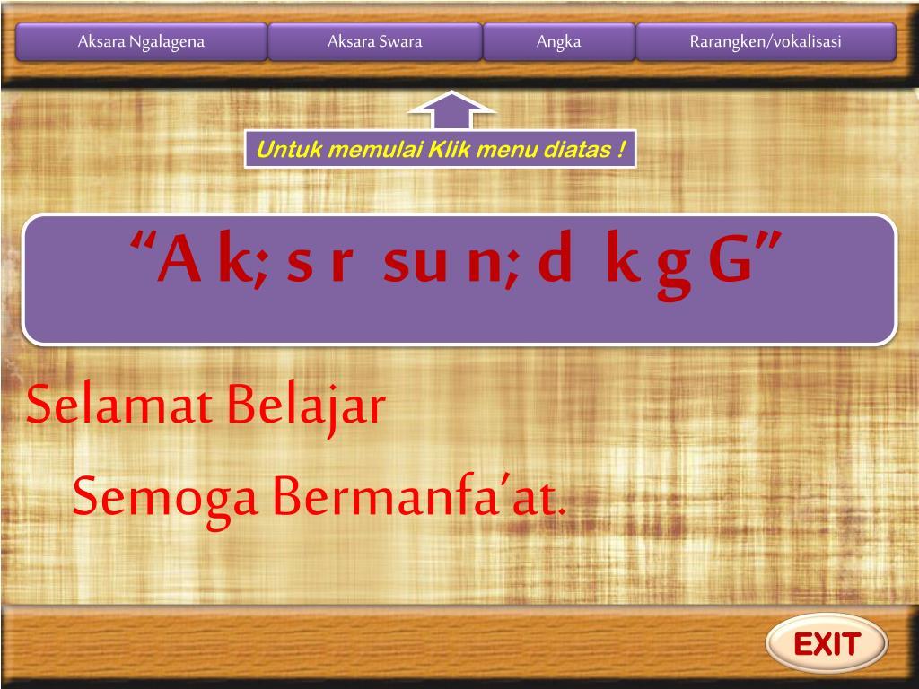 Buku aksara sunda font ngalagena, rp32.000. PPT - aksara sunda PowerPoint Presentation, free download
