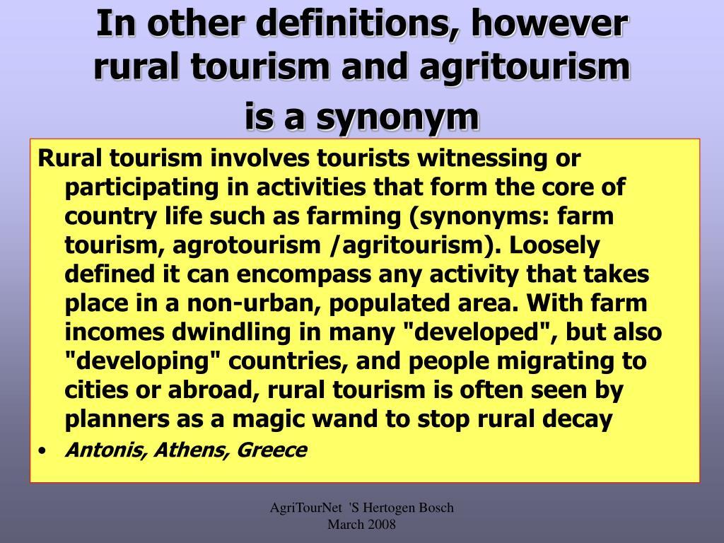 Rural Synonym