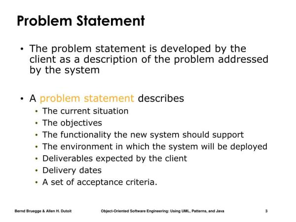 PPT Ex ample of a Problem Statement Introduction into