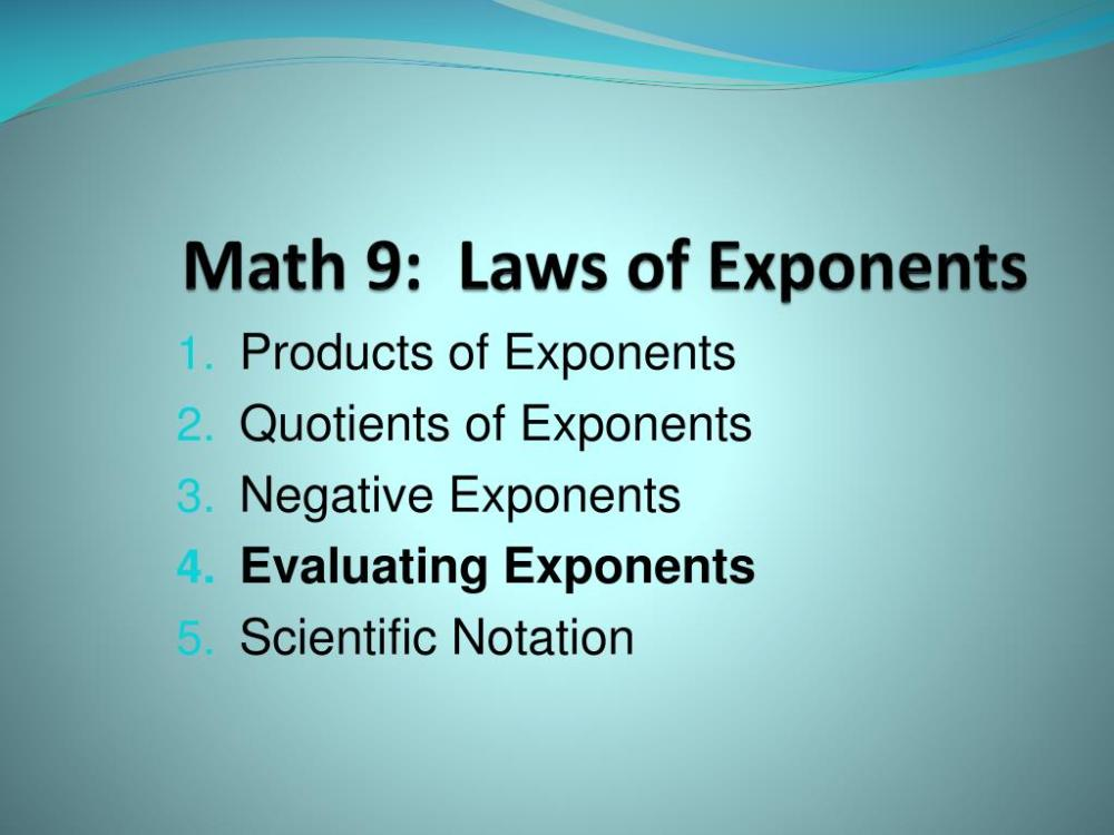 medium resolution of PPT - Math 9: Laws of Exponents PowerPoint Presentation