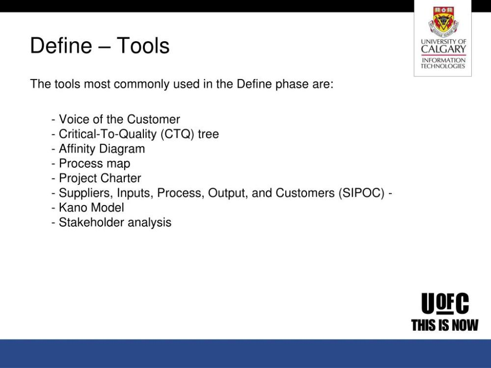 medium resolution of  used in the define phase are voice of the customer critical to quality ctq tree affinity diagram process map project charter suppliers