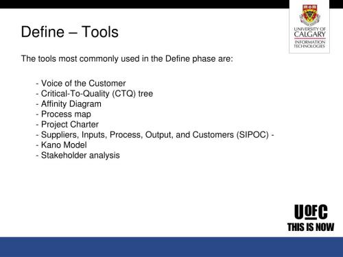 small resolution of  used in the define phase are voice of the customer critical to quality ctq tree affinity diagram process map project charter suppliers