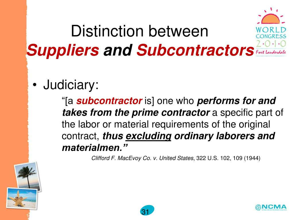 PPT - Subcontracting and Flow Down Clauses: Understanding What the FAR Does - and Does Not - Require PowerPoint Presentation - ID:527093