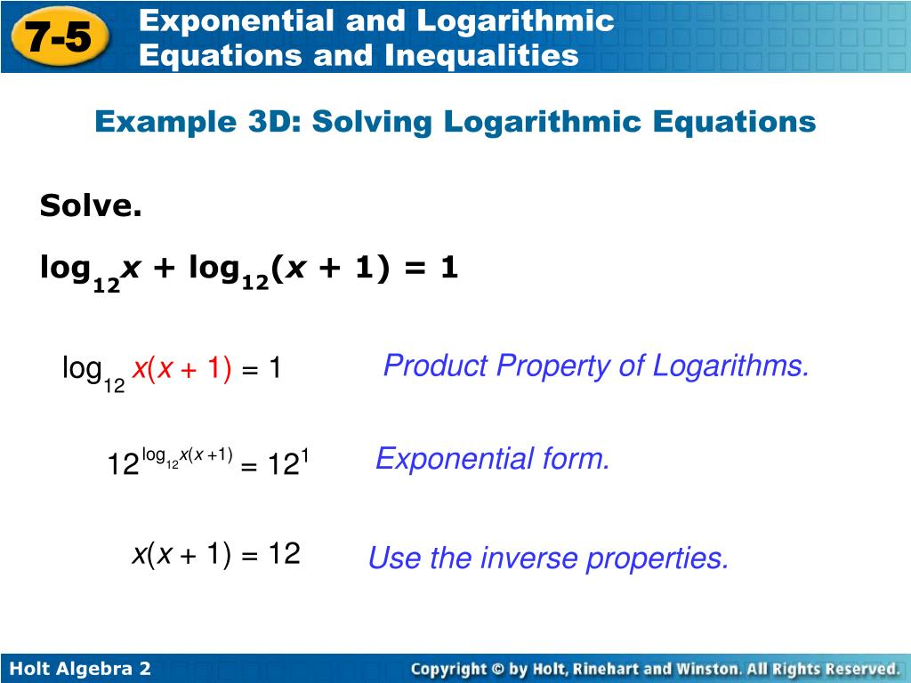 Exponential And Logarithmic Equations Worksheet Vertex