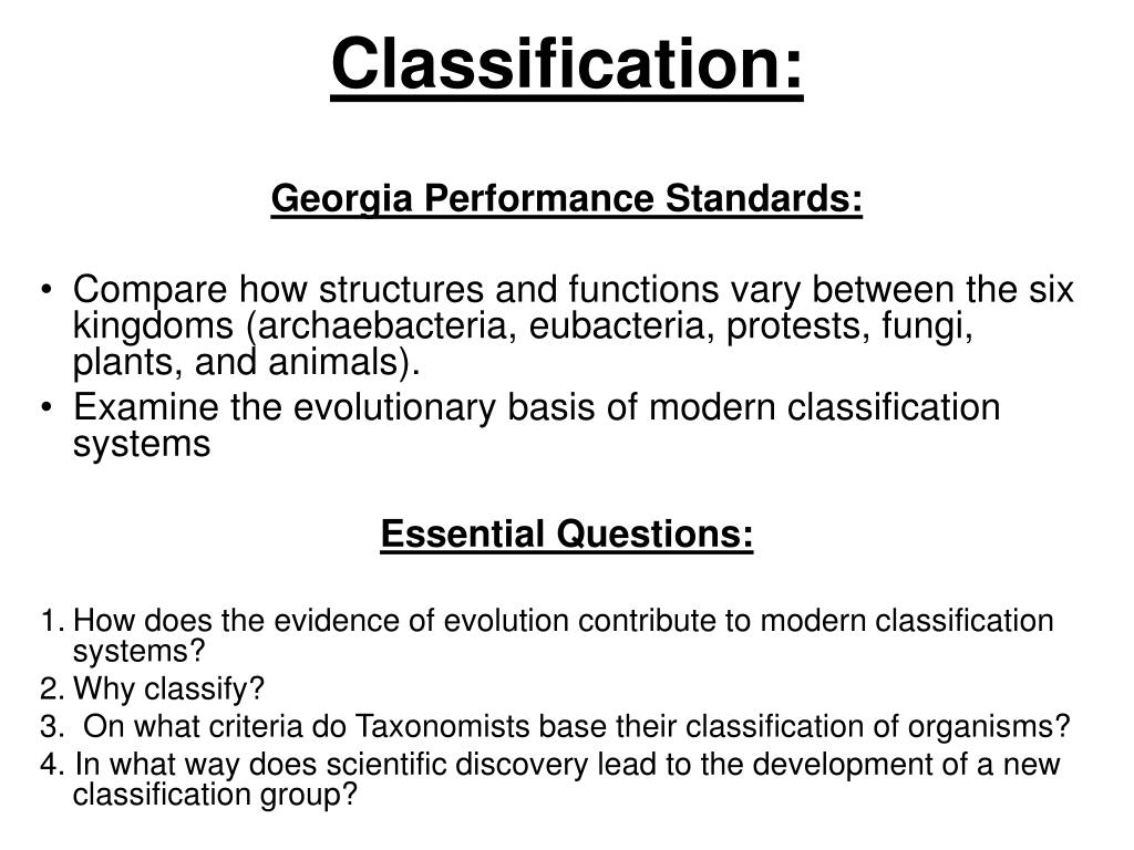 Archaebacteria Classification Ppt