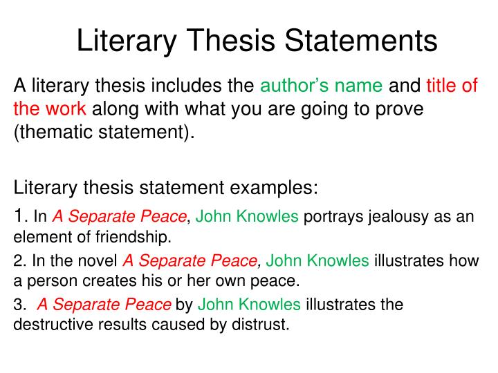 literary analysis essay thesis statement examples