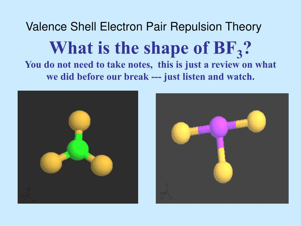 hight resolution of valence shell electron pair repulsion theory what