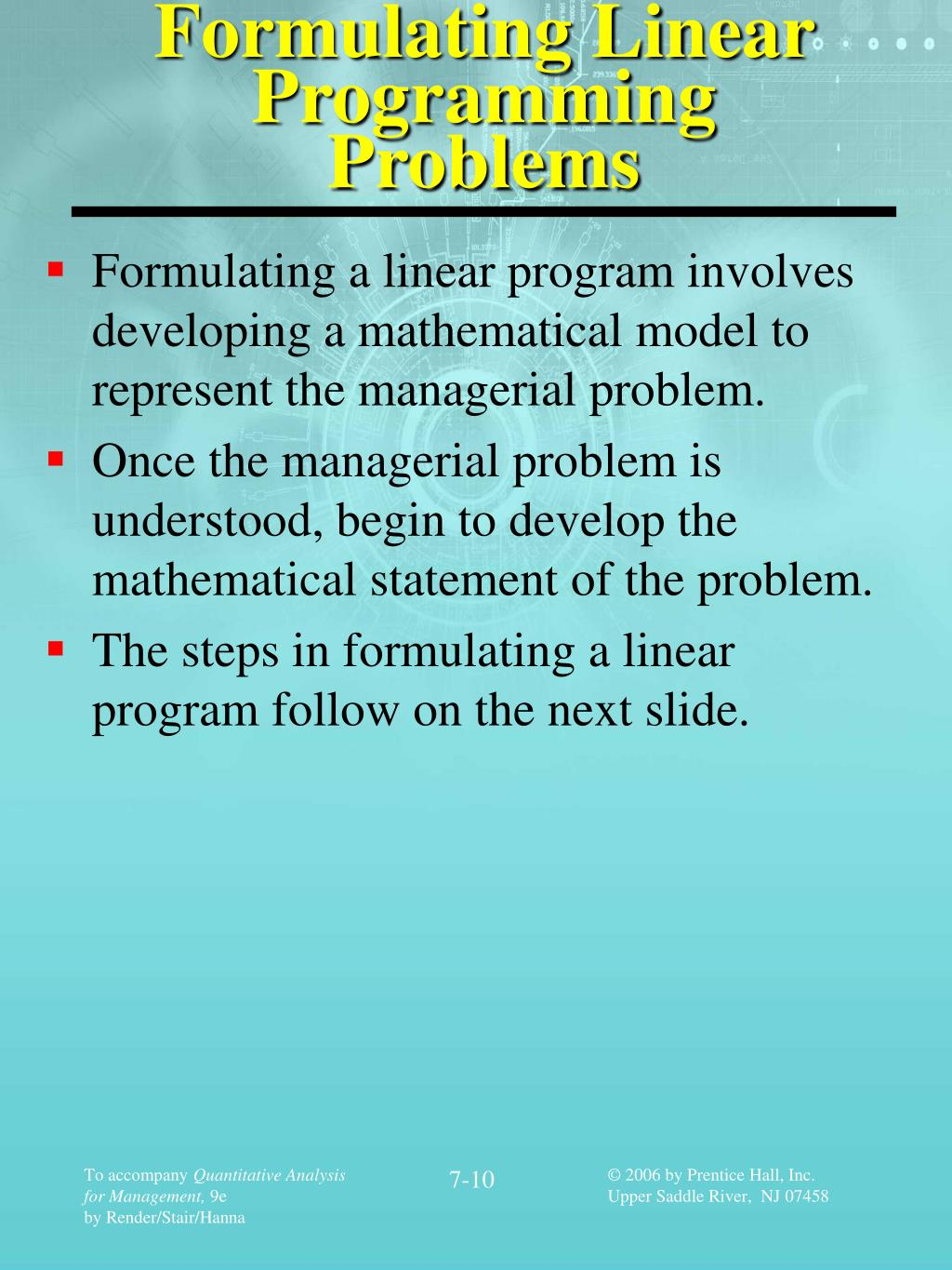 Program Linear Ppt : program, linear, Chapter, Linear, Programming, Models:, Graphical, Computer, Methods, PowerPoint, Presentation, ID:566219