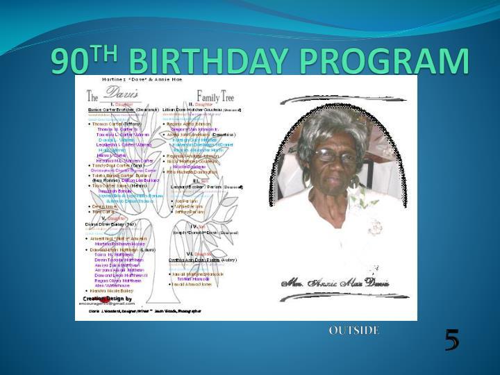 90 birthday invites