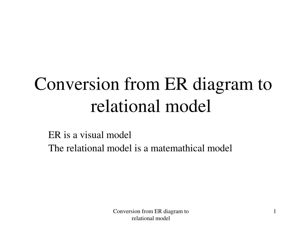 hight resolution of conversion from er diagram to relational model l