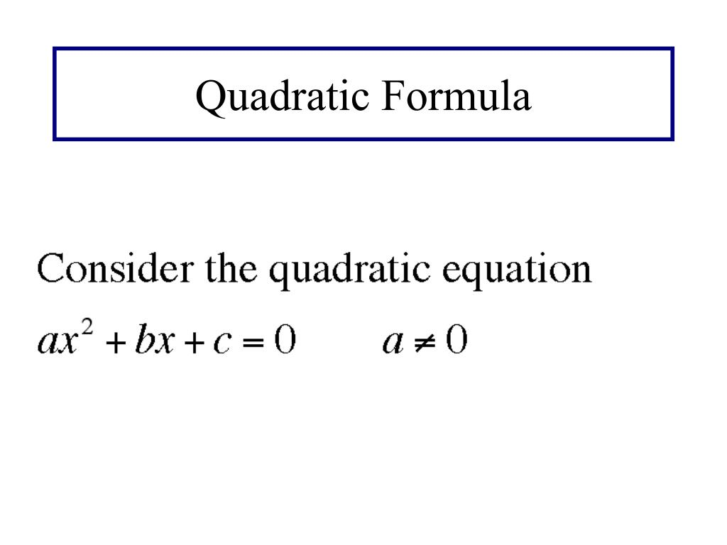 Solving Quadratic Equations Practice Quizlet