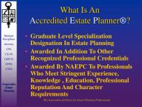 PPT - NATIONAL A SSOCIATION OF E STATE P LANNERS ...