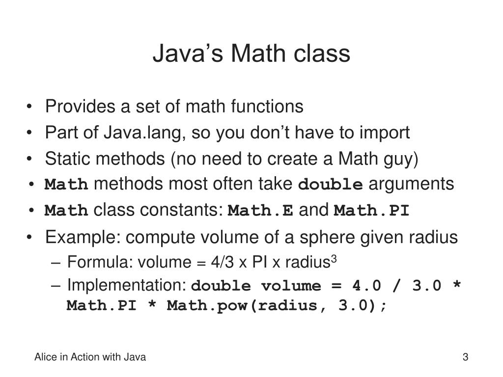 How To Use Math Class In Java